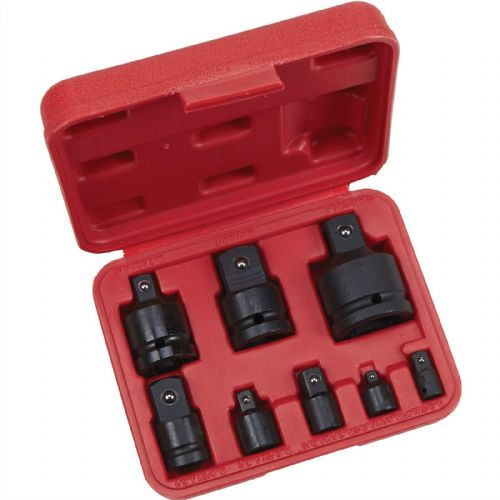 8 Piece Impact Wrench Socket Adaptor Converter Reducer Set And Case